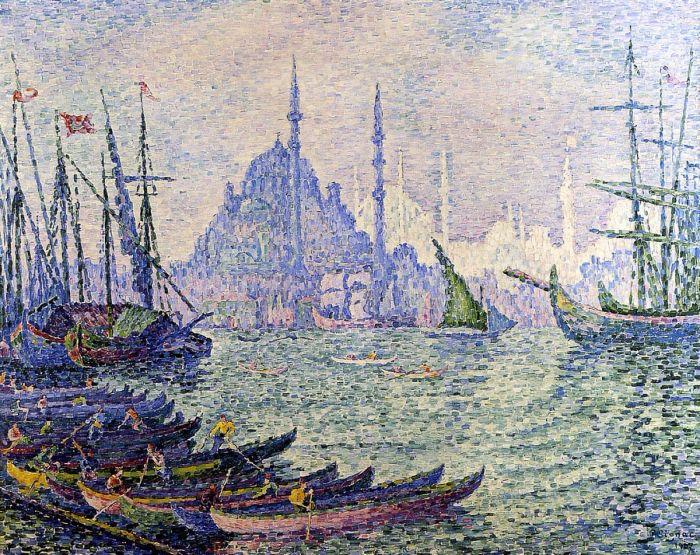 Золотой Рог, Константинополь (Минареты), 1907. Автор: Поль Синьяк.