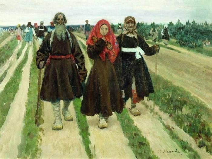 К Троице. (1902). Автор: Сергей Коровин.