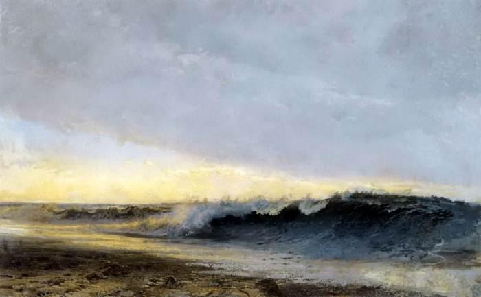 Прибой волн. (1873 год). Автор: Федор Васильев.