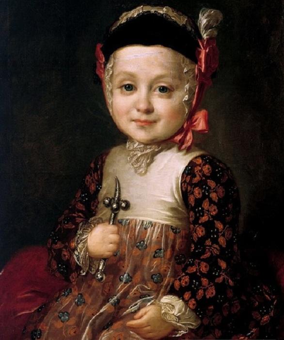 «Портрет А.Г.Бобринского в детстве» (1760 год.) Автор: Ф.Рокотов.