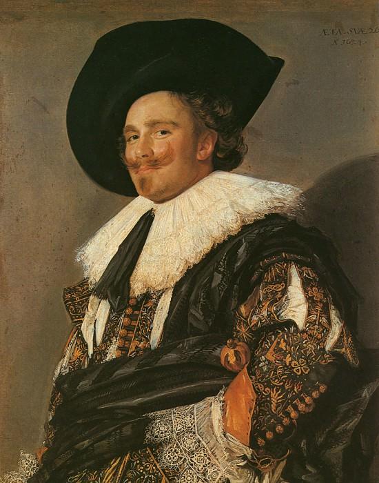 Улыбающийся кавалер. (1624 год.) Автор: Франс Хальс.