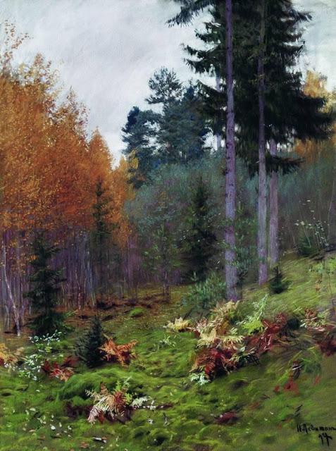 В лесу осенью. (1894). Автор: Исаак Левитан.