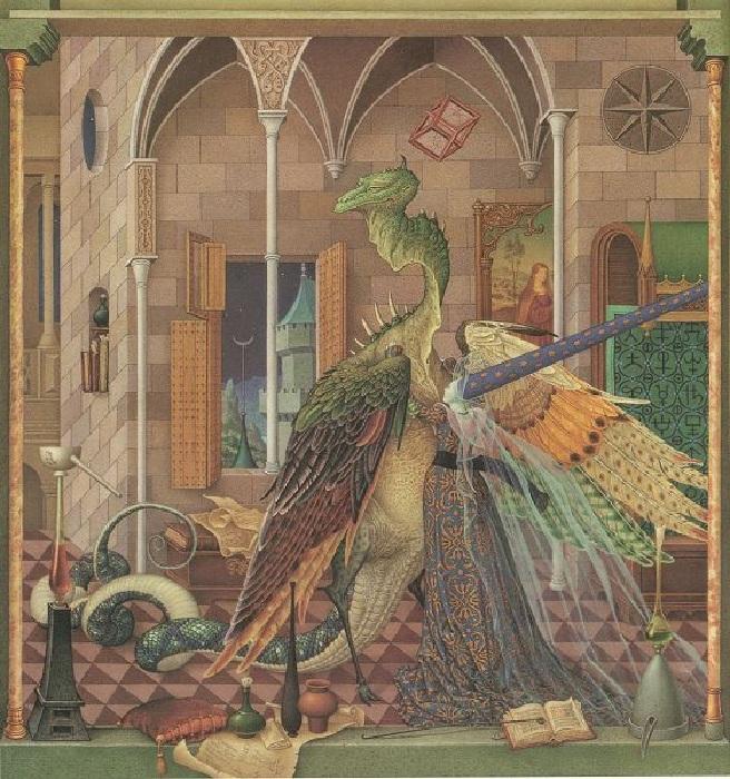 «Золотые перья дракона». Иллюстрации от Андрея и Ольги Дугиных.