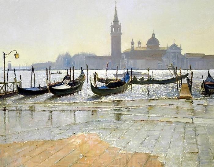 Венеция на рассвете (Venice at Dawn). Художник: Timothy Easton.