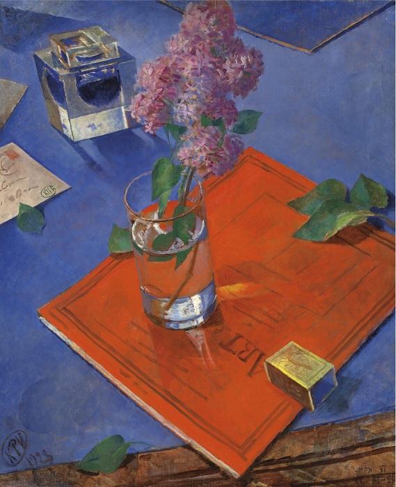 «Натюрморт с сиренью» (1928 год). Автор: Кузьма Петров-Водкин.