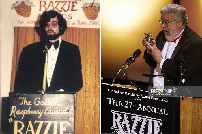 Джон Уилсон в 1981 году. / Джон Уилсон на 27-й церемонии награждения «Золотой малины».