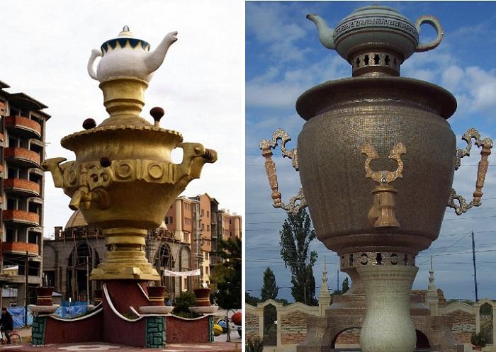 Памятник самовару в городе Хачмас. (Азербайджан)./ Ван (Турция).
