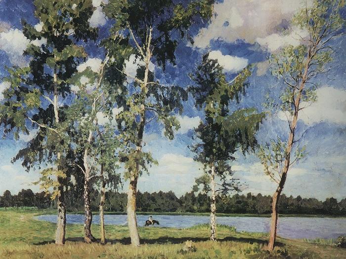 На озере. 1926 год. Автор: Игорь Грабарь.