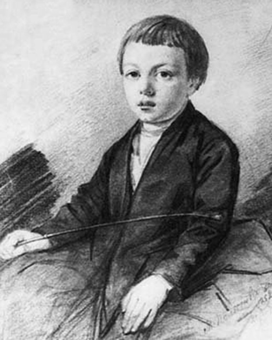 Афанасий Фет в детстве.