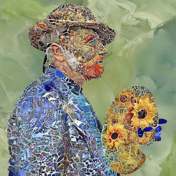 Ван Гог. Цифровые мозаики от Бруно Чербони.