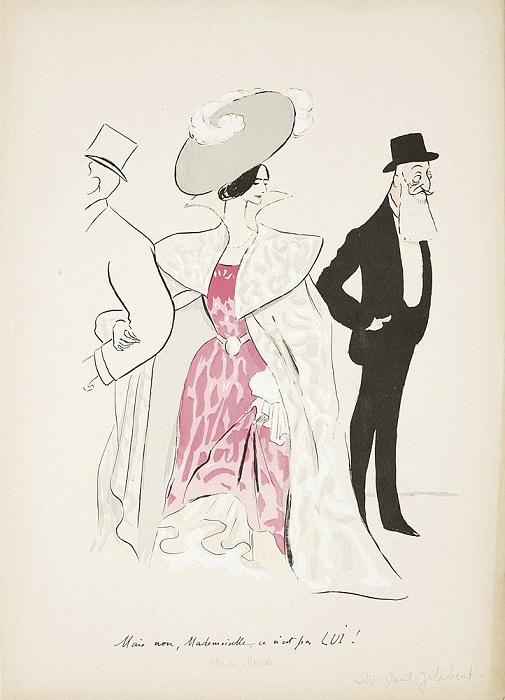Карикатура на Леопольда и Клеопатру.