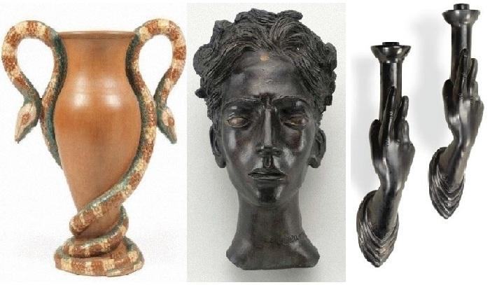 Керамические и скульптурные работы Жана Маре.