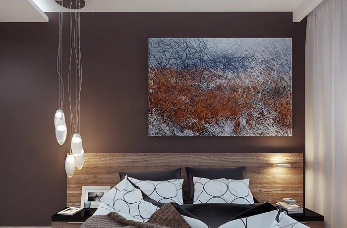 Абстрактная живопись в современном интерьере.
