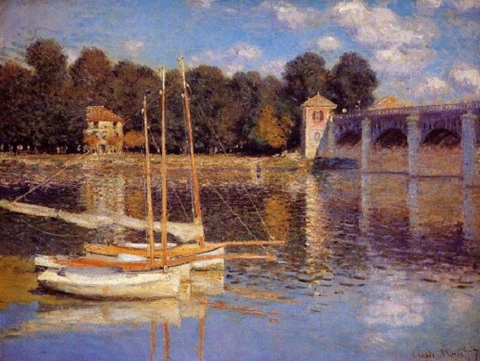 <br>Мост в Аржантее. (1874 год). Автор: К.Моне.