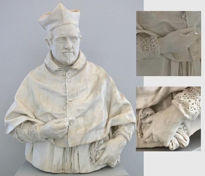 «Кардинал Шипионе Боргезе». (1632 год). Метрополитен-музей , Нью-Йорк. Скульптор: Джулиано Финелли.