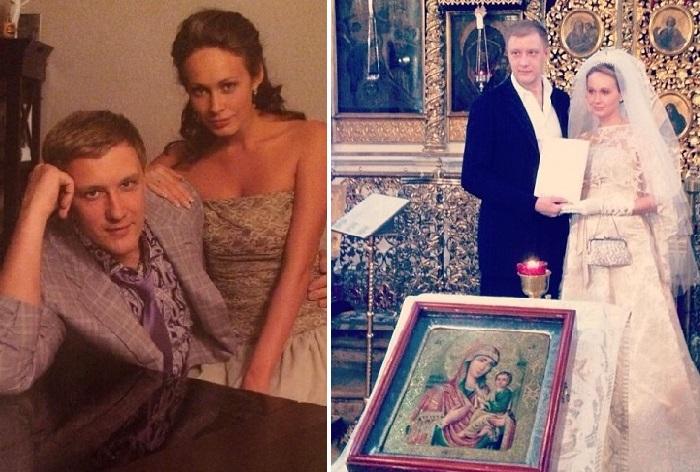 Сергей Горобченко с женой Полиной Невзоровой.