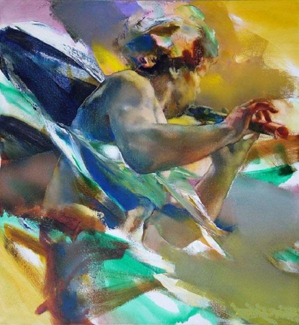 Музыкант. Из цикла «Шелковый путь». Автор: Валерий Блохин.