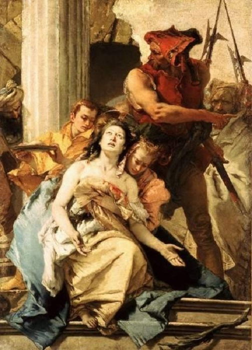Мученичество Святойф Агаты. (около 1755 г.). Автор: Джамбаттиста Тьеполо.