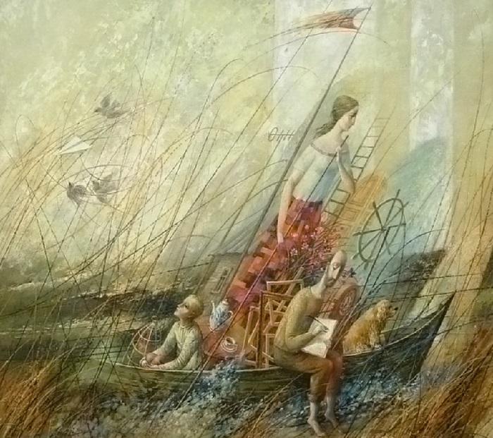 Семейная лодка художника. Автор: Анатолий Концуб.