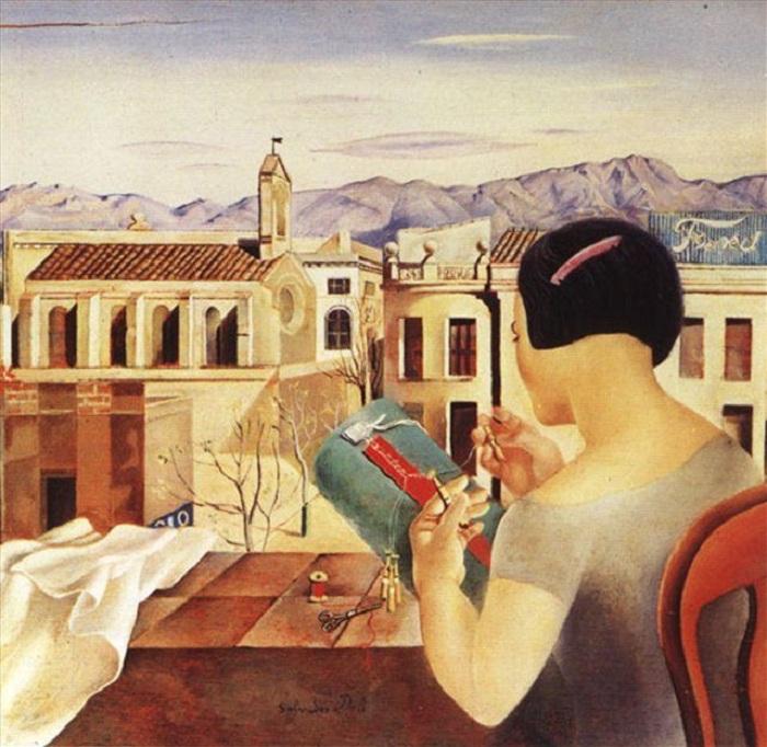 Женщина у окна в Фигерасе. (1926). Автор: Сальвадор Дали.