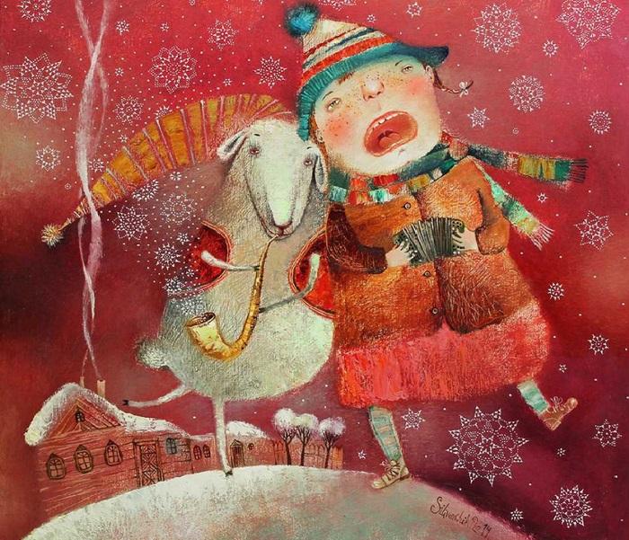 Рождественский вечер. Автор: Анна Силивончик. | Фото: evg-crystal.ru.