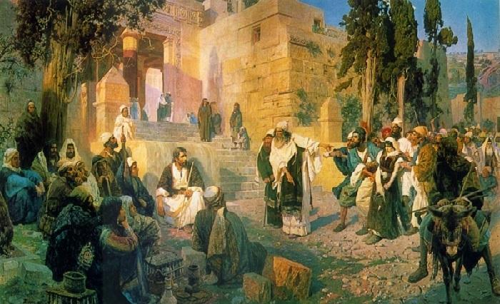 «Кто из вас без греха?». 1908г.  В.Поленов