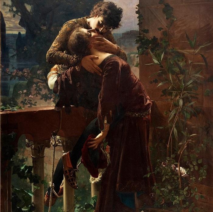 «Ромео и Джульетта на балконе» (1886 год). Автор: Юлиус Кронберг.