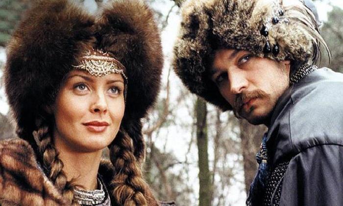 Михал Жебровский и Изабелла Скорупко в кинофильме «Огнем и мечом».