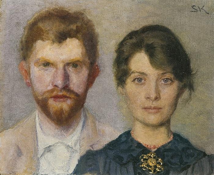Педер и Мари. Портрет совместной работы Педера Северина Крёйера и Мари Крёйер.