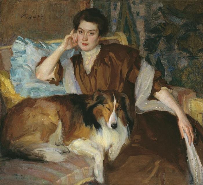 Лола Ландсгоф-Браз. Портрет жены. (1906 год). Автор: Осип Эммануилович Браз.