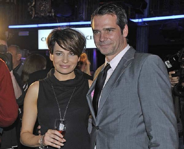Павел Делонг с младшей сестрой Дороти, актрисой и телеведущей.