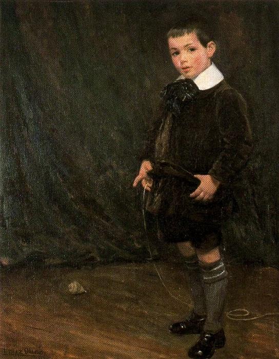 «Сын художника Рафаэль Диас». (1917 год). Автор: Сальвадор Диас Игнасио Руис де Олано.