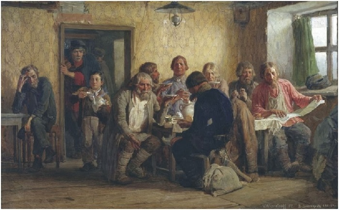 «В харчевне». (1874 год). Автор: Виктор Васнецов.