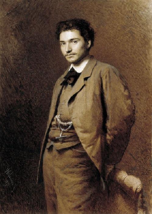 «Портрет художника Ф. А. Васильева». (1871 год). Автор: И. Н. Крамской.