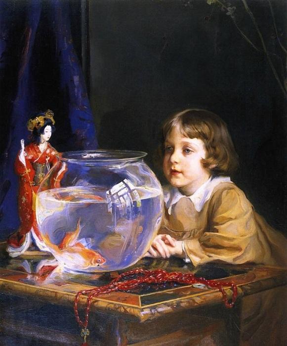 «Сын художника». (1917 год). Музей изобразительных искусств, Будапешт. Автор: Филипп Алексис де Ласло.