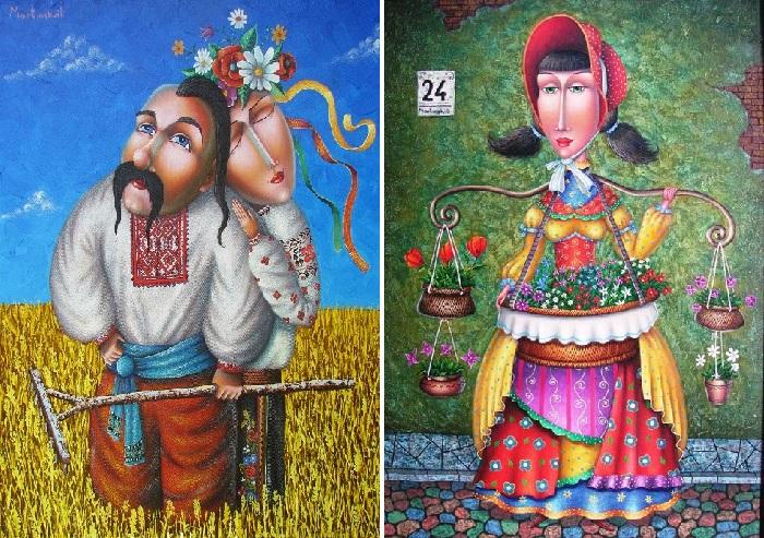 С любовью к Украине. / Цветочница. Автор: Зураб Мартиашвили.