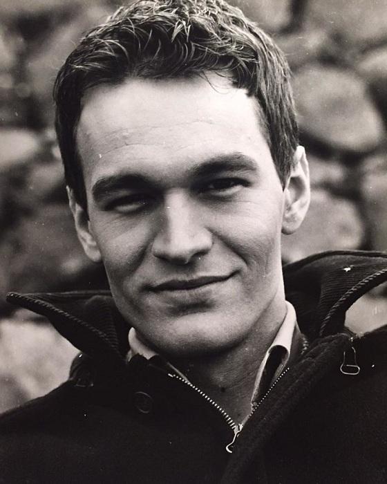 Михал Жебровский в молодые годы.