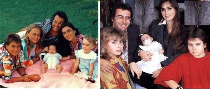 Аль Бано и Ромина Пауэр с детьми.