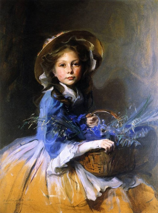 «Miss Olive Trouton», 1910<br>Венгерская национальная галерея, Будапешт. Автор: Филипп Алексис де Ласло.