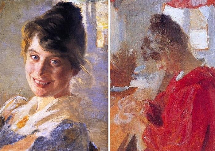 Мари Крёйер 1890 г. / Мари в красном платье. 1890 г. Автор: Педер Северин Крёйер.