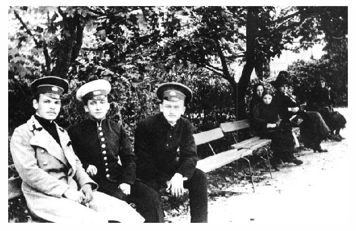Константин Паустовский с товарищами.