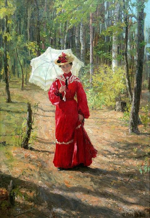 Портрет Лидии Сычковой, жены художника. 1903 год. Мордовский музей имени С.Д. Эрьзи.