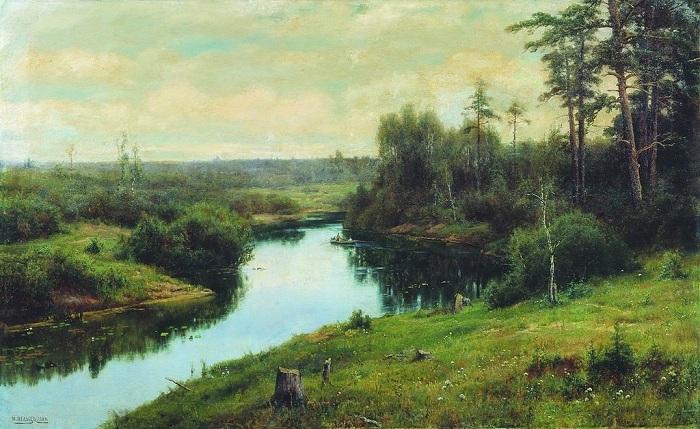 «Лесная речка». (1904год). Автор: Иван Вельц.