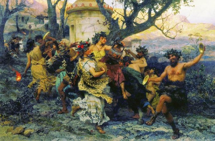 Праздник Вакха. (1890 год). Автор: Генрих Семирадский.
