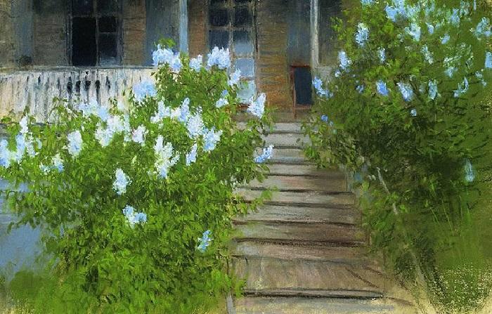 Исаак Левитан. Весна. Белая сирень. 1890-е.