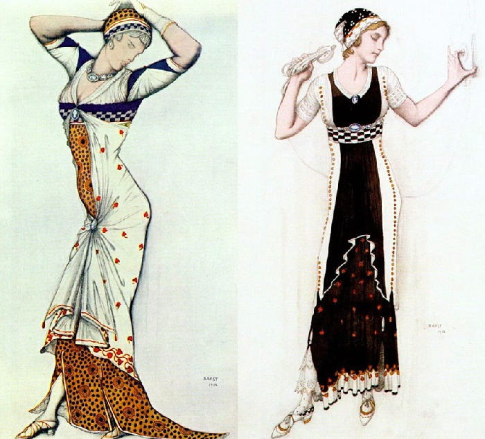Модели одежды от Льва Бакста.