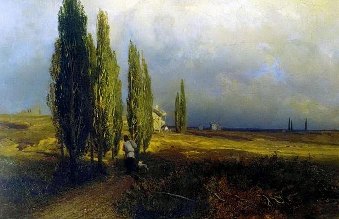 Тополя. (1870год). Автор: Федор Васильев.