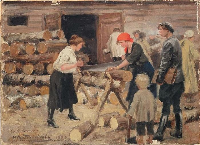 Субботник. (1923) г.  Автор: Иван Владимиров.
