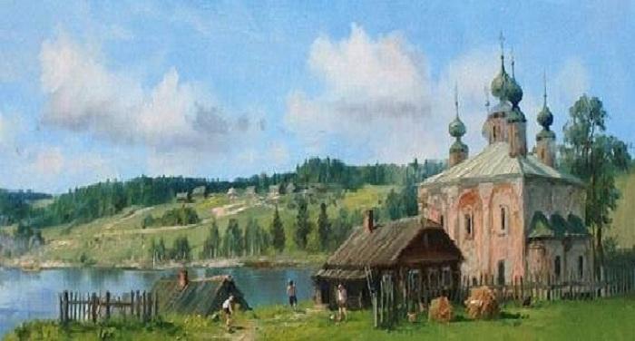«...Глаза озёр и косы рек, Святых церквей небесный лик… Здесь счастлив русский человек И русский дух он здесь постиг!»...