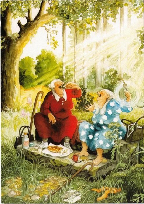 Очаровательные старушки от Инге Лоок.